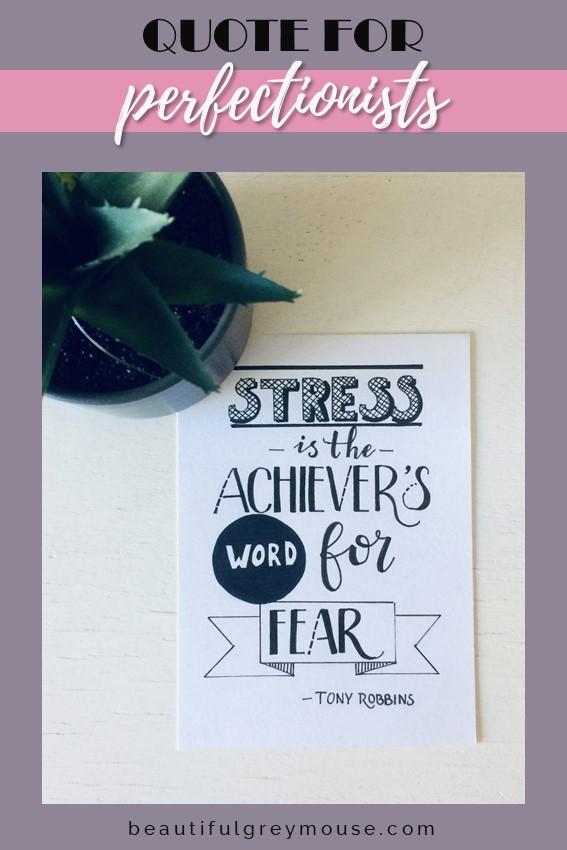 Stress is the achievers word for fear - Tony Robbins