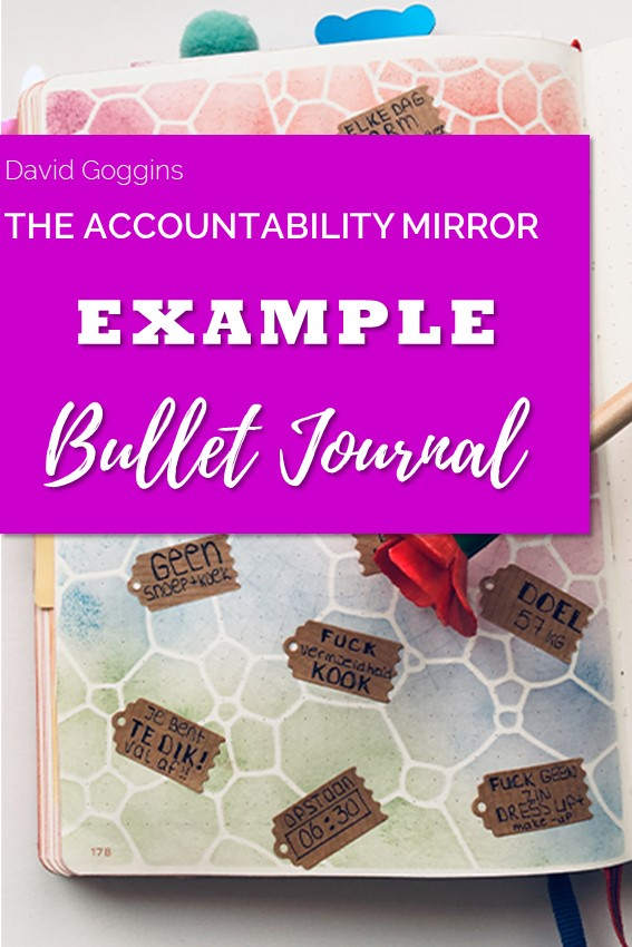 Example of applying the Accountability Mirror in my bullet journal