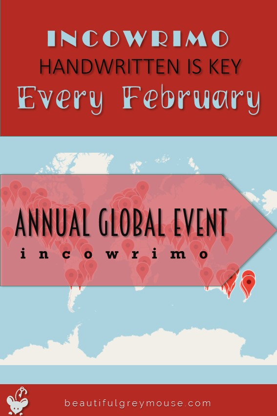 Incowrimo an annual global snailmail event