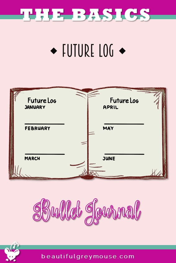 Future log example by the bullet journal method