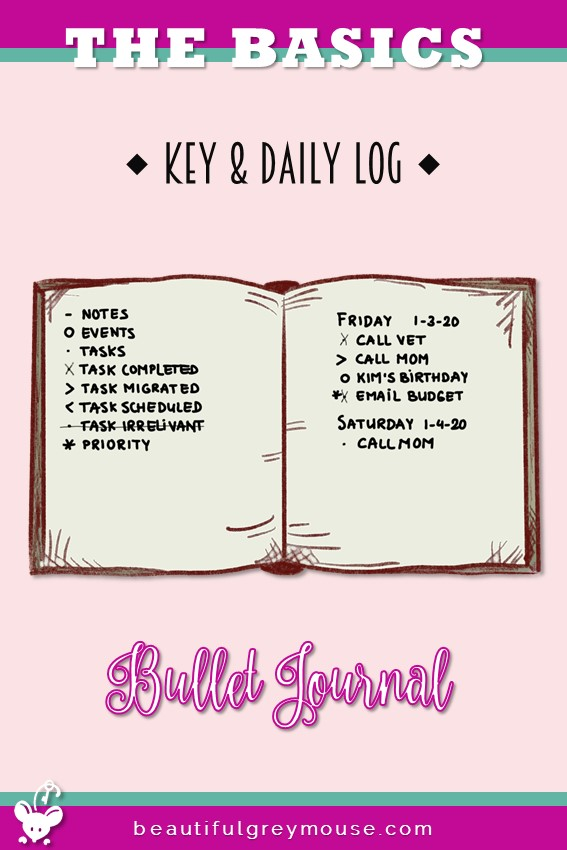 Key and daily log example