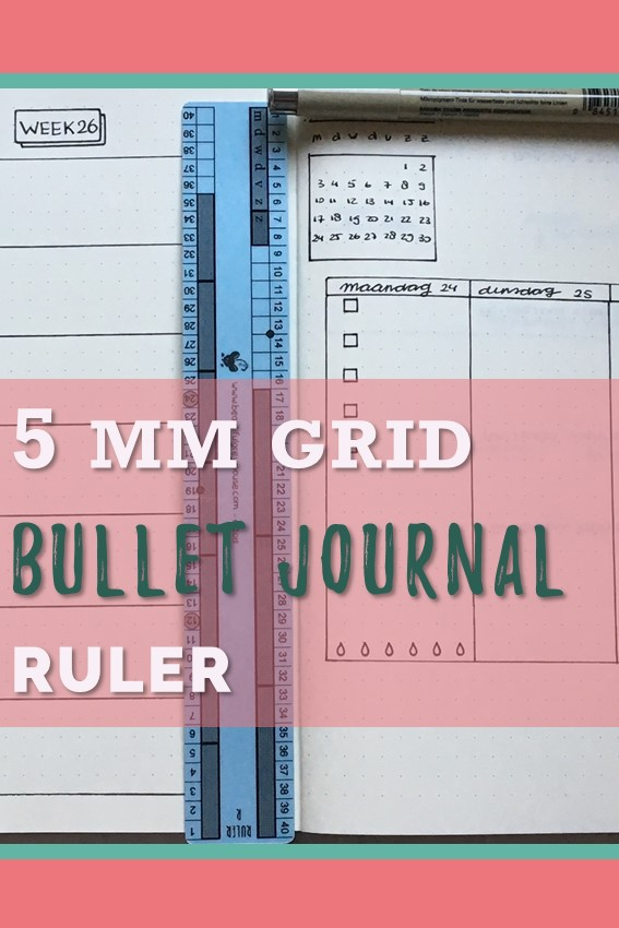 Ruler for the bullet journal so you don't have to count boxes anymore