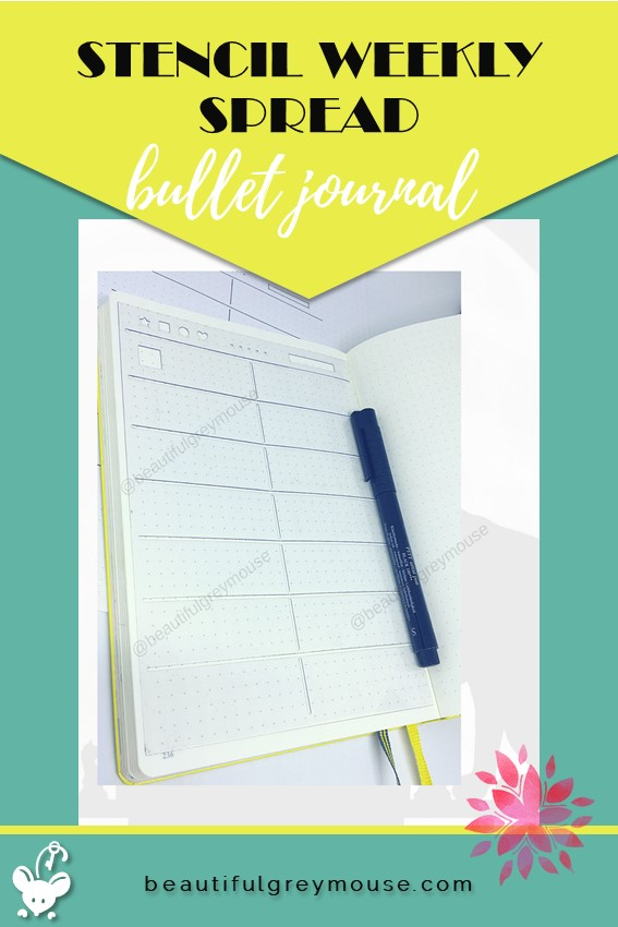 Template used in a bullet journal for a weekly spread