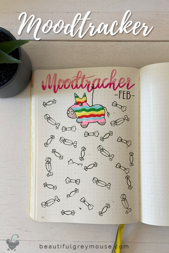 Month moodtracker in pinata theme