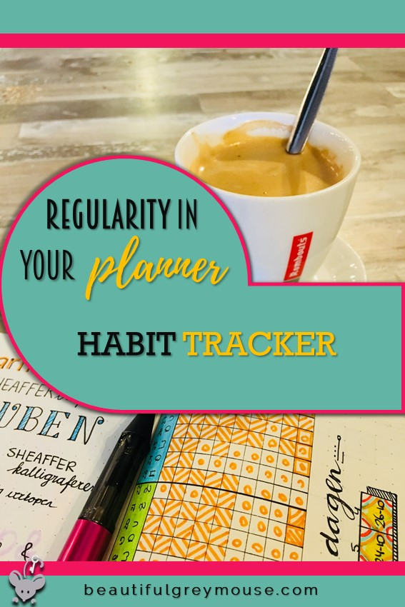 Regularity in your planner by using a tracker