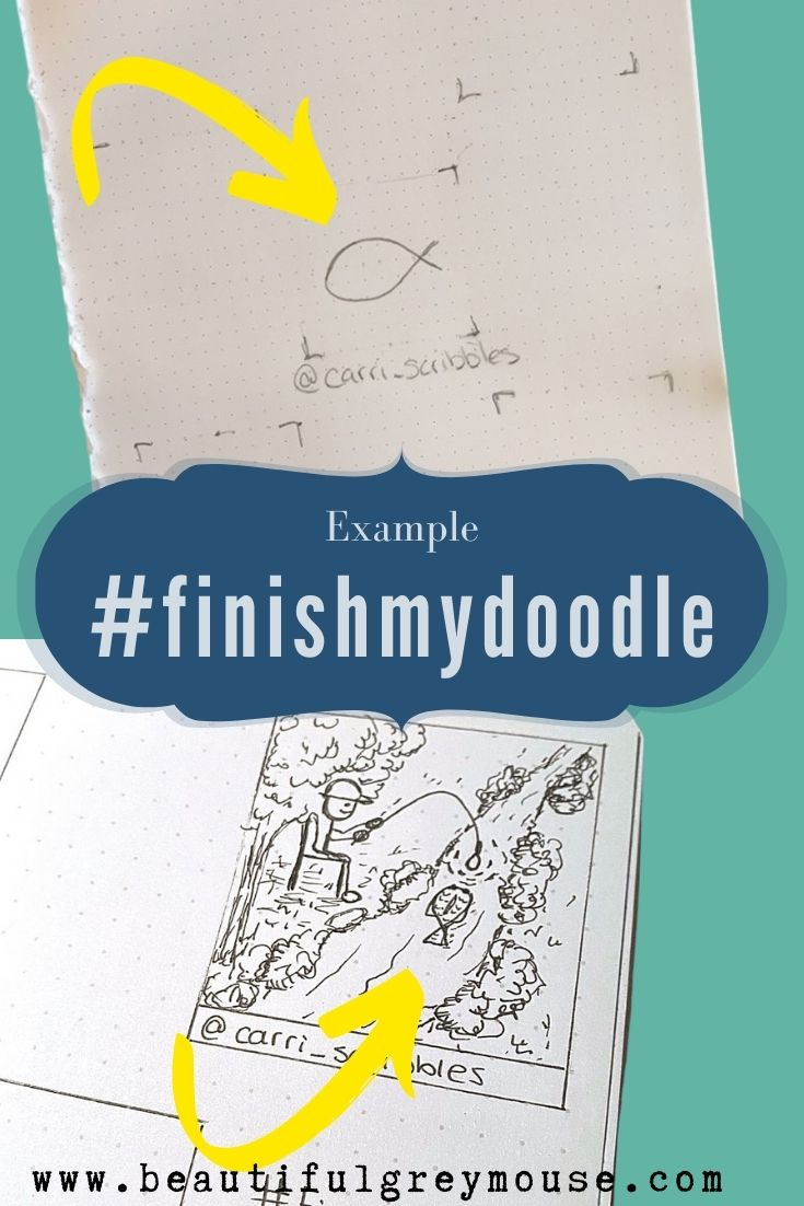 Example of the Doodlechallenge #finishmydoodle