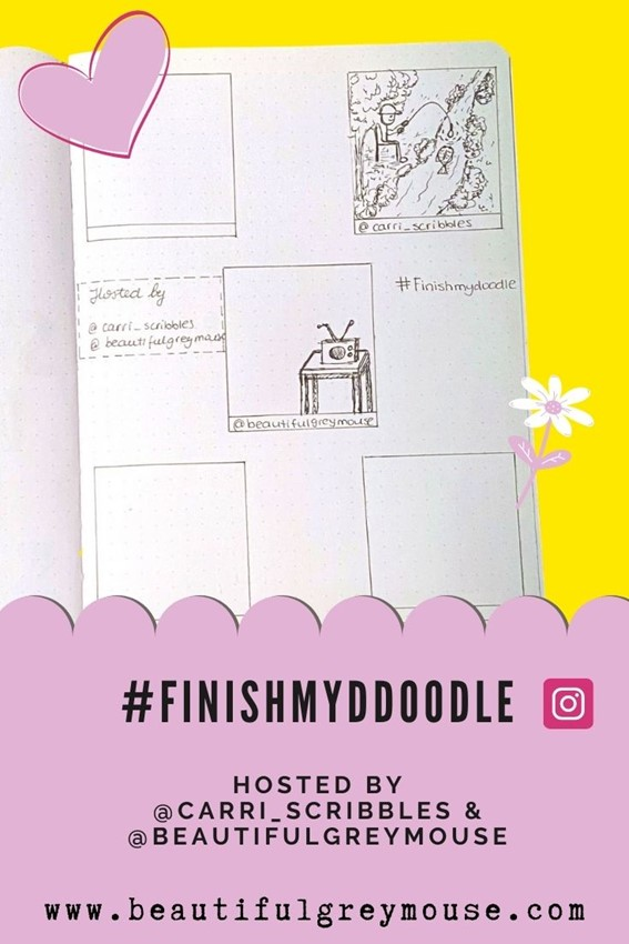 #finishmydoodle The New Most Fun Monthly Doodling Challenge You Do Together! Join US!