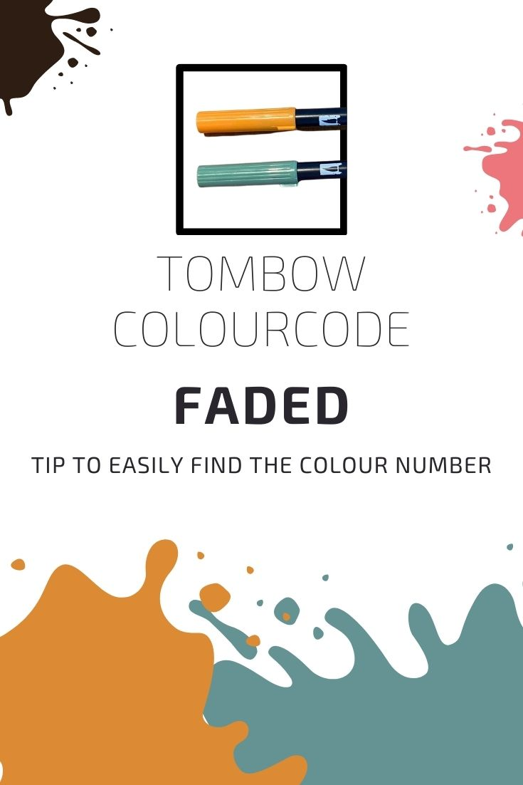 Tombow Dual Brush Pen Color Code Unreadable And How To Prevent This In The Future
