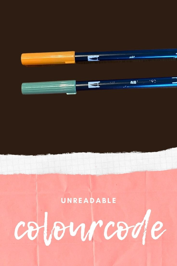 An Unreadable Color Code On Your Tombow Pen Is Annoying