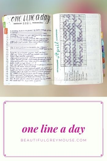 One line a day in your planner