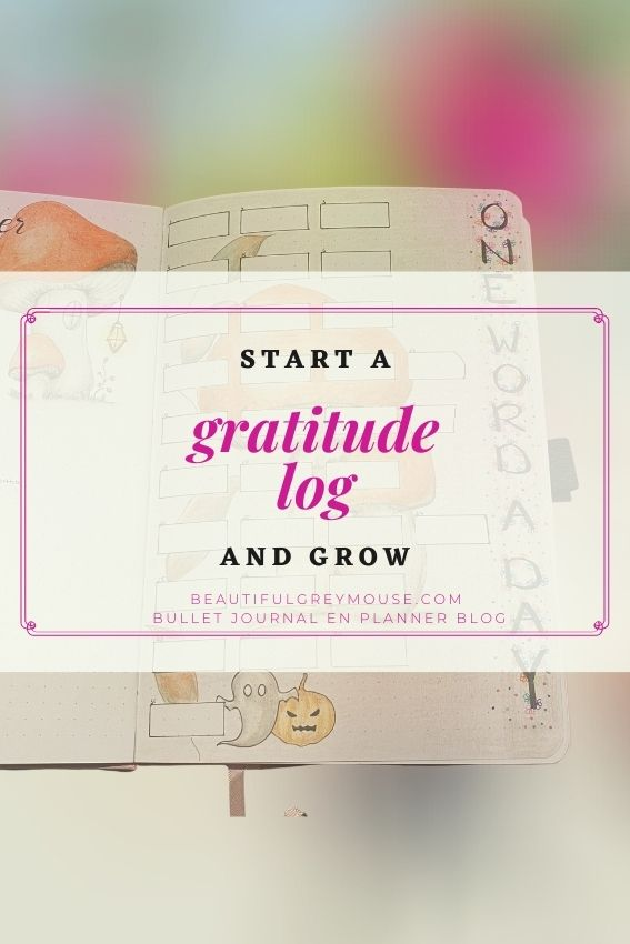 Gratitude log for your planner