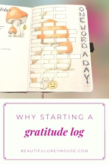 Why to use a gratitude spread in your bullet journal
