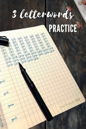 Three Letterwords For Practicing Your Handwriting