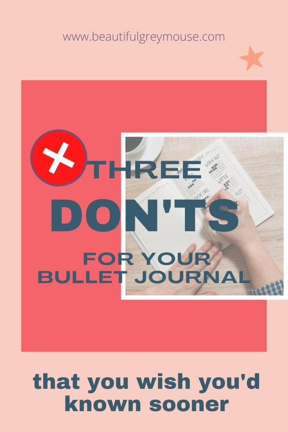 Three don'ts for your journal that will help you