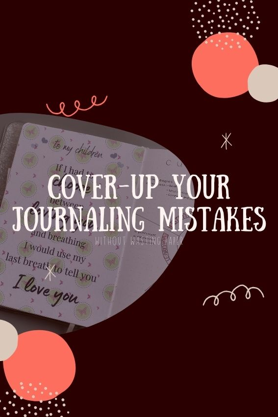 How to fix mistakes in you bullet journal