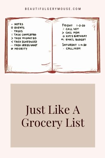 A to-do list is just like a shopping list