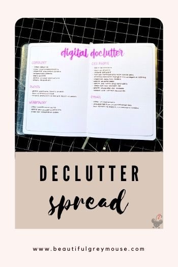 You can include a clean-up plan for your digital environment in your bullet journal