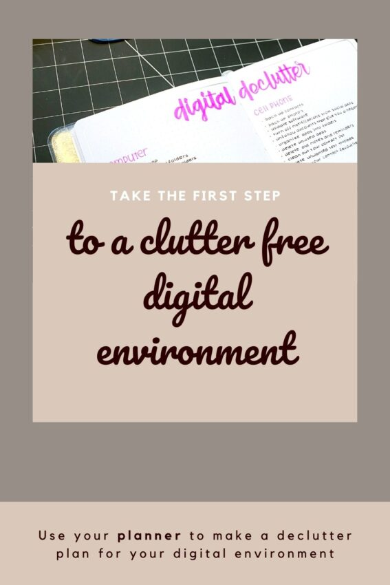 Roadmap in your bullet journal to a uncluttered digital environment