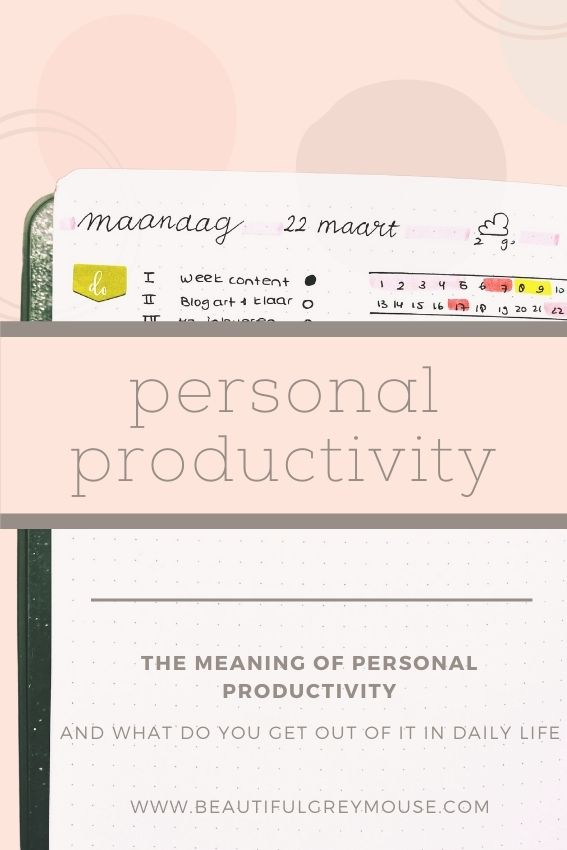 Meaning Personal Productivity