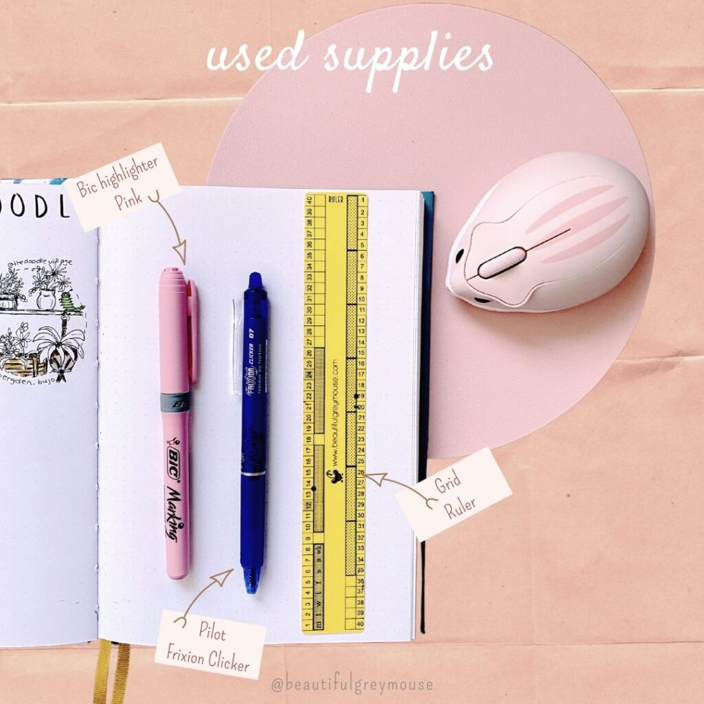 used supplies for minimalistic spreads